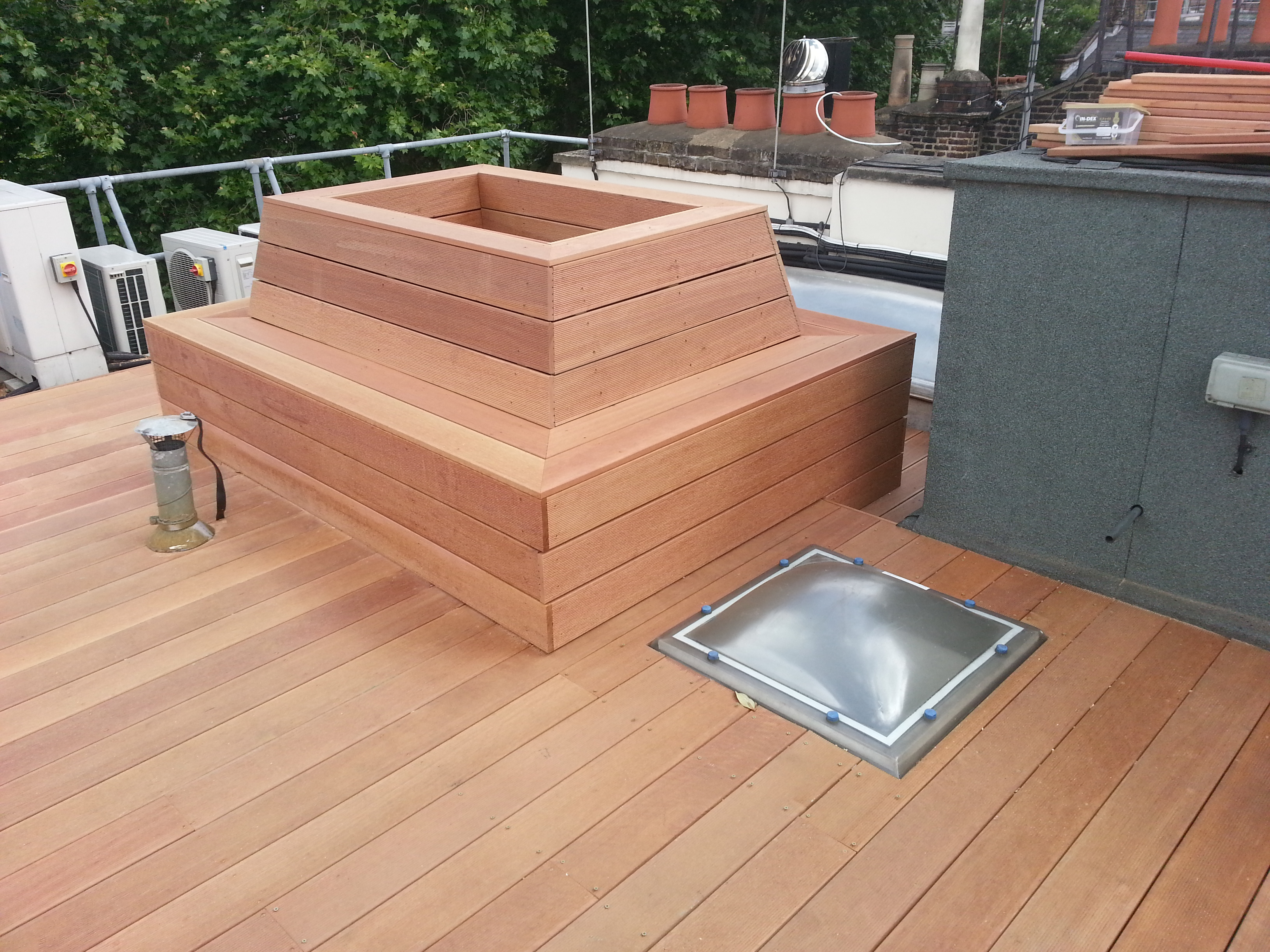 Mayfair roof decking after